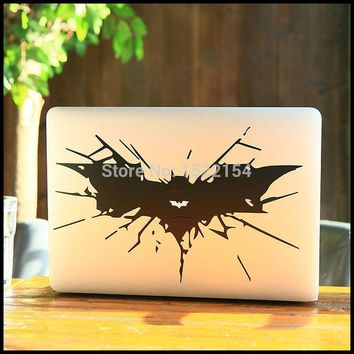 "Batman Dark Knight gift Christmas Big Batman Laptop Sticker for Macbook Air Pro Retina 11"" 13"" 15"" Decal Mac Case Cover Skin Vinyl Adesivo Pegatina Para Air Pro AT_71_6"