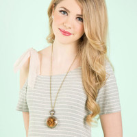 ModCloth Americana Roots of Time Necklace