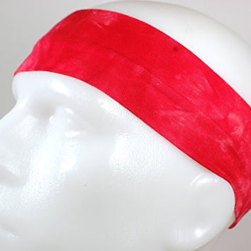 NEW! Super Soft Stretchy Colorful Sports Headband (Red Tie Dye)