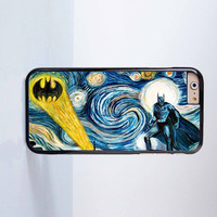 Batman with Stary Night Plastic Case Cover for Apple iPhone 6 6 Plus 4 4s 5 5s 5c