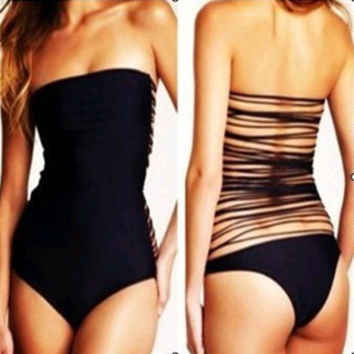 SIMPLE - Fashionable Strapless Swimsuit Swimwear Bikini b4100