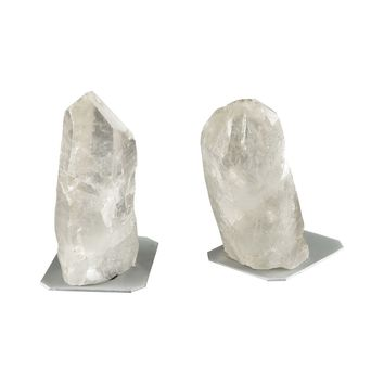 Ulikool Bookends Clear Rock Crystal