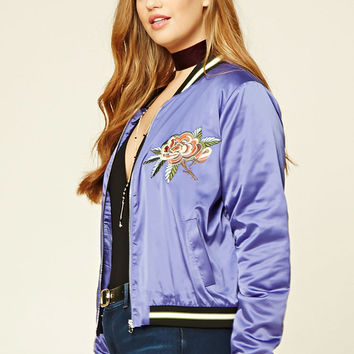 Plus Size NY Embroidered Jacket