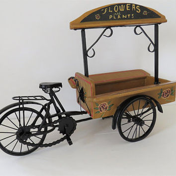 Vintage, Tricycle, Cart, Flower Seller, Model, Hand Made, Flower Seller