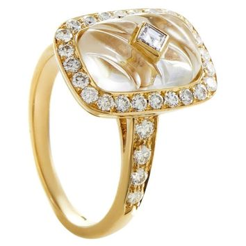Boucheron Crystal Diamond Gold Ring