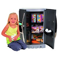 Kids, Toddlers, Interactive Pretend Play Toy Refrigerator Playset with Real Water Dispenser