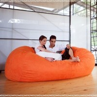 Bean Bag Sofa Color: Microsuede Orange:Amazon:Home & Kitchen