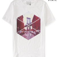 Mens Free State N/Y Geo Graphic T-Shirt
