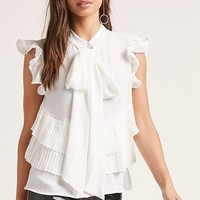 Ruffle Cap-Sleeve Top