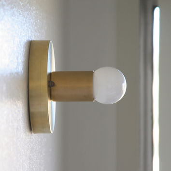 Unfinished Raw Brass Wall Sconce/Ceiling Flush Mount light
