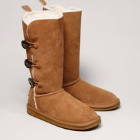 AEO Tall Button Warm & Fuzzy Boot | American Eagle Outfitters