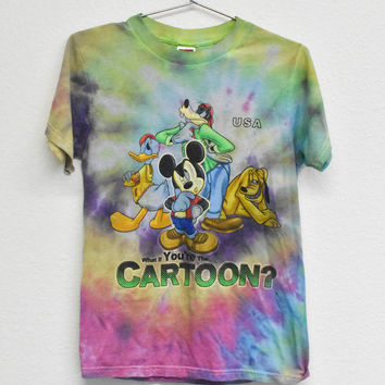 What if You're the Cartoon? Tie Dye Vintage Tee