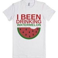 Watermelon-Female White T-Shirt