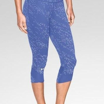 """Under Armour"" Fashion Print Exercise Fitness Gym Yoga Running Leggings Sweatpants(7 Points Long)"