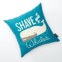 Shave the Whales - Beach House Pillow - 18x18