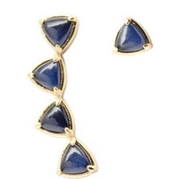 Blue Cats Eye Ear Pins - Rachael Ryen Jewelry