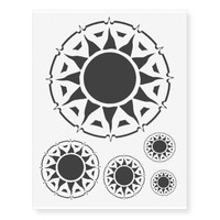 Tribal Sun Halo Temporary Tattoos