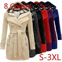 Fashion Women's Warm Winter Hooded Long Section Jacket Outwear Coat WT6277 [8834055052]