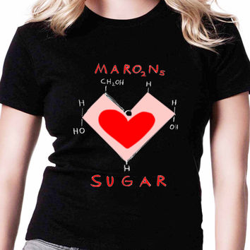 Sugar Maroon 5 CoverIf Womens T Shirts Black And White