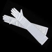 "LADIES LONG 22"" OPERA EVENING FINGER GLOVES SATIN CHARLESTON PARTY DRESS PROM 