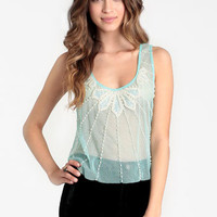 Sparkling Pearl Crop Top - $34.00 : ThreadSence, Women's Indie & Bohemian Clothing, Dresses, & Accessories