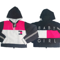 Pink Baby Girl Crop Windbreaker