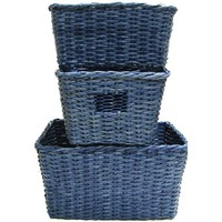 Blue Square Paper Baskets | Hobby Lobby