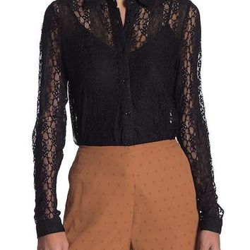 Hilary Lace Button Up Blouse