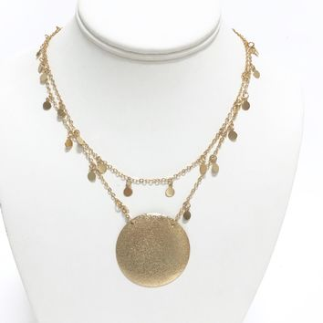 In Perfect Harmony Gold Necklace