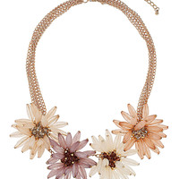 Mix Large Flower Collar - Jewellery  - Bags & Accessories