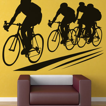 Vinyl Wall Decal Sticker Cycling #OS_AA697