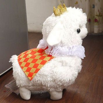 White Prince Crown Arpakasso Alpacasso Baby Alpacos Alpaca Plush Toy Dolls Gift