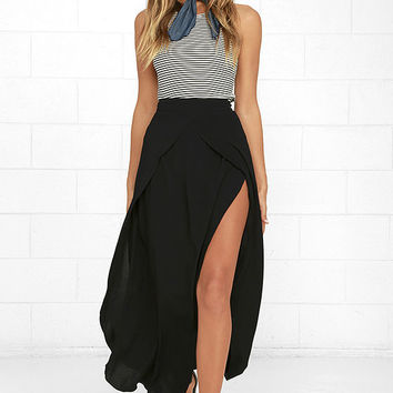 Seductress Black Maxi Skirt