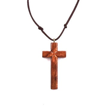 Wooden Cross Necklace, Wooden Cross Pendant, Handmade Wood Cross, Wooden Pendant, Carved Cross Pendant, Hand Carved Cross, Wood Jewelry