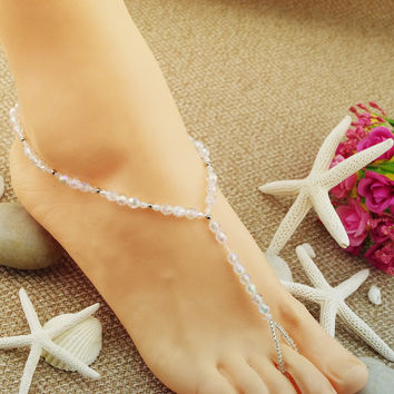 Sexy Ladies Jewelry Gift Cute Shiny New Arrival Stylish Crystal Handcrafts Stretch Anklet [6768798215]