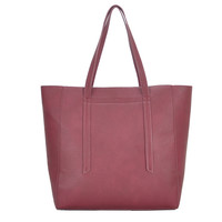 Mechaly Women's Ashley Wine Vegan Leather Hobo Handbag