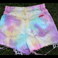 High Waisted Colored Jean Shorts