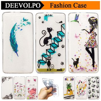 DEEVOLPO Colored Soft TPU Cases For Lenovo K5 Note A536 A2010 A6000 S850 Back Covers For iPhone X 8 7 Plus 6 6S 5C 5 5S SE D01Z