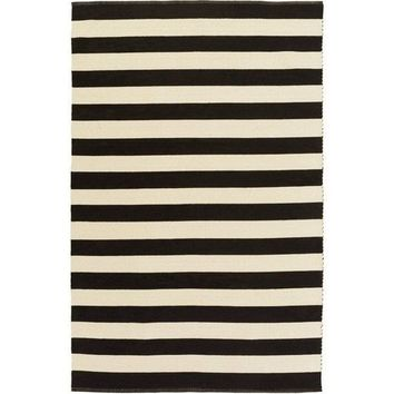 Port Cotton Black Stripe Rug