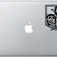 Stationary Troops Macbook Decal Anime Vinyl Sticker Laptop Windows Shingeki No Kyojin ( Attack On Titan)