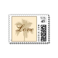 Tropical Wedding Love Postage Stamp from Zazzle.com