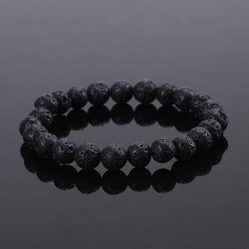 Fashion Jewelry for Men Black Lava Energy bracelet