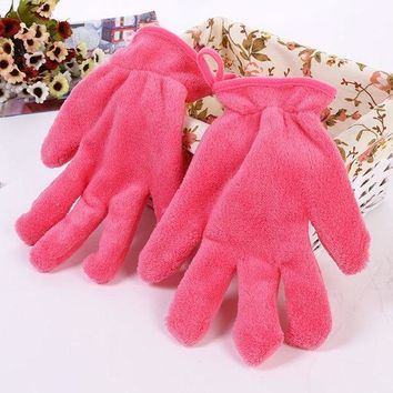 DCCKKFQ KESMALL 1 Pc Beauty Essentials Makeup Remove Glove Soft Gloves Portable Carry Make up Cosmetics Remover Towel Cloth CO937