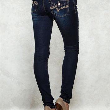 Sasha Jegging Back Flap Jeans