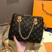 LV 2019 new high-end women's shoulder bag chain bag Messenger bag