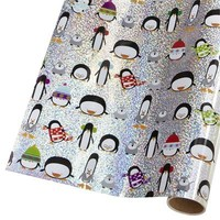 Penguin Holographic Gift Wrap