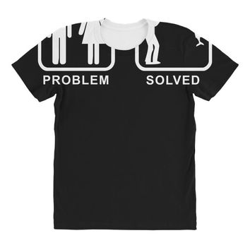 fishing   problem solved mens funny All Over Women's T-shirt