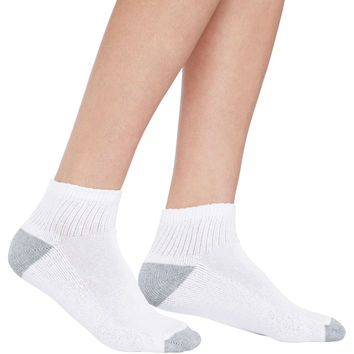 Hanes Cushioned Womens Ankle Athletic Socks 10-Pack