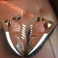 【Louis Vuitton】LV Woman Fashion Casual Sport Print Running Shoes Brown G