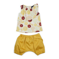 Euro Miss Baby Girls' Citrus Top and Bloomers Set